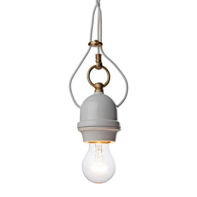 'Plain porcelain' Pendant Light - hanglamp