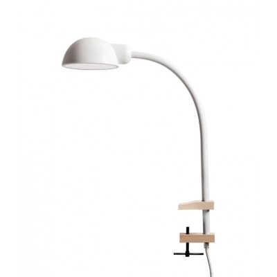 'Softclamp' siliconen lamp met klem wit