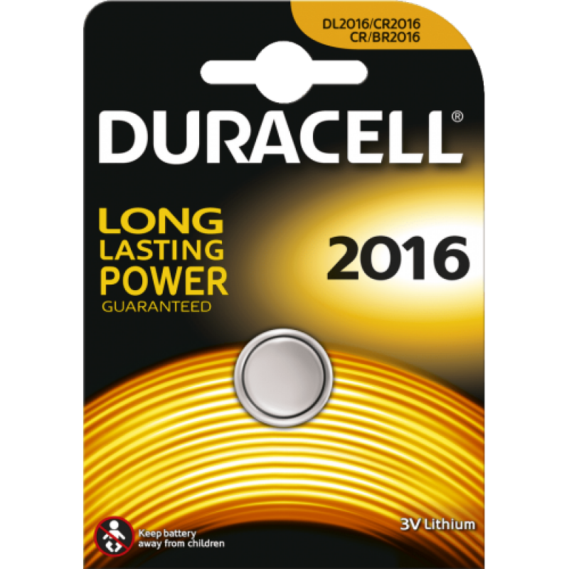 Duracell 2016 lithium 3V knoopcel